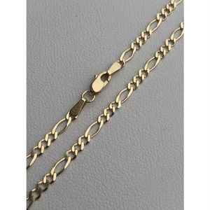 HarlemBling Real Solid 14k Gold Figaro Link Chain